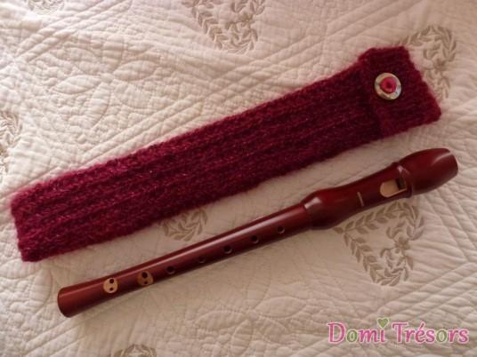photo de la housse tricotée terminée