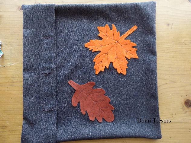 photo Boutonnière et exemple de disposition des feuilles sur le coussin